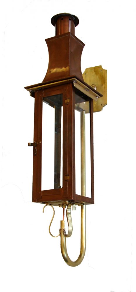 English Regency Lantern on Premium Naval Brass Gooseneck
