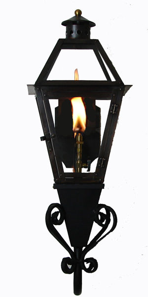 French Quarter Lantern with STEALTH IGNITER on Gooseneck