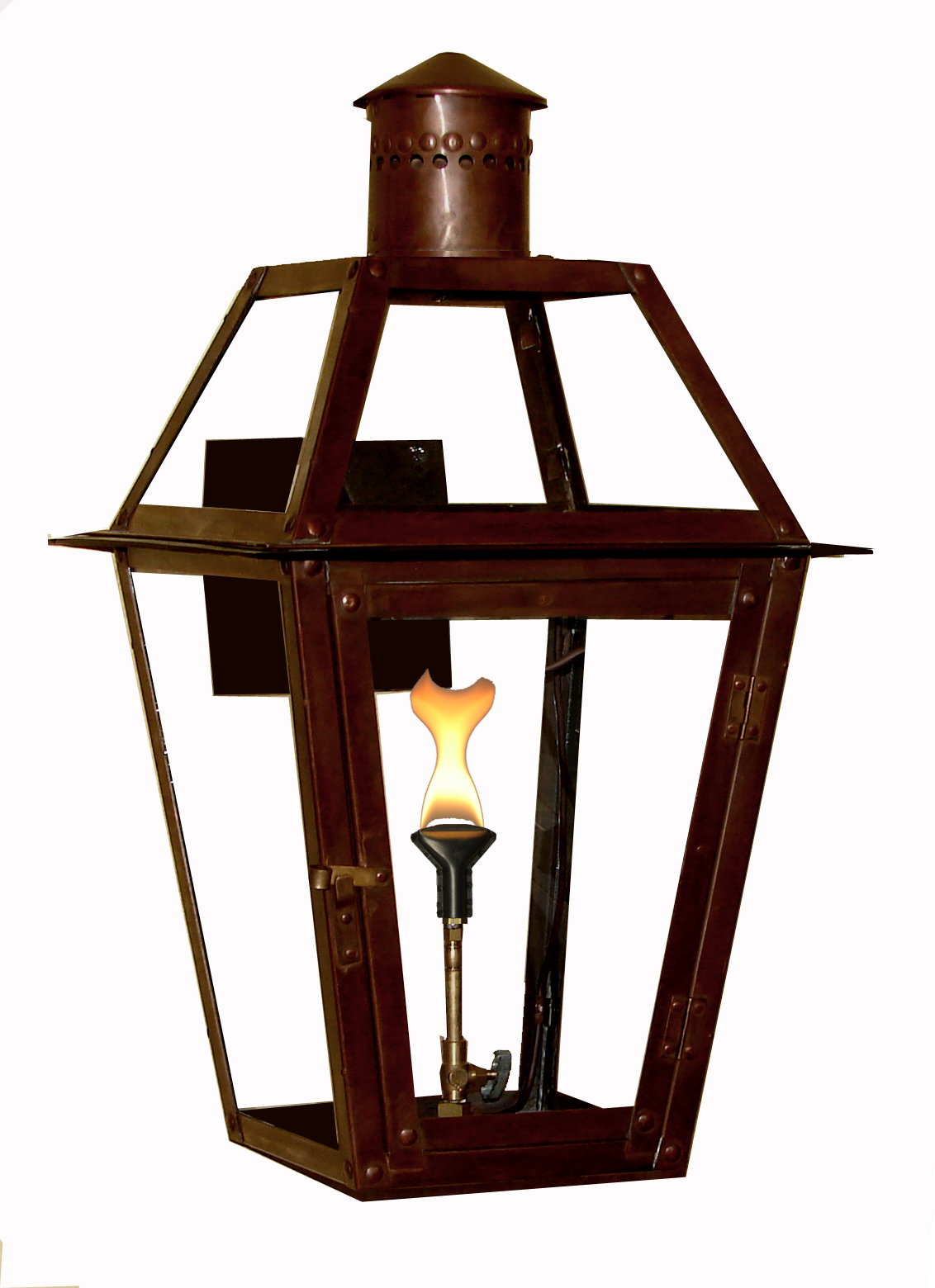 french quarter lantern rivetking series new orleans gas lights. Black Bedroom Furniture Sets. Home Design Ideas
