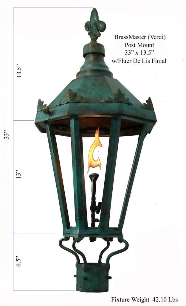 windsor antique green post mount new orleans gas lights. Black Bedroom Furniture Sets. Home Design Ideas