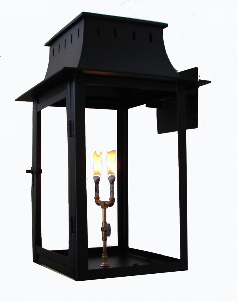 ironman four sided colonial new orleans gas lights. Black Bedroom Furniture Sets. Home Design Ideas