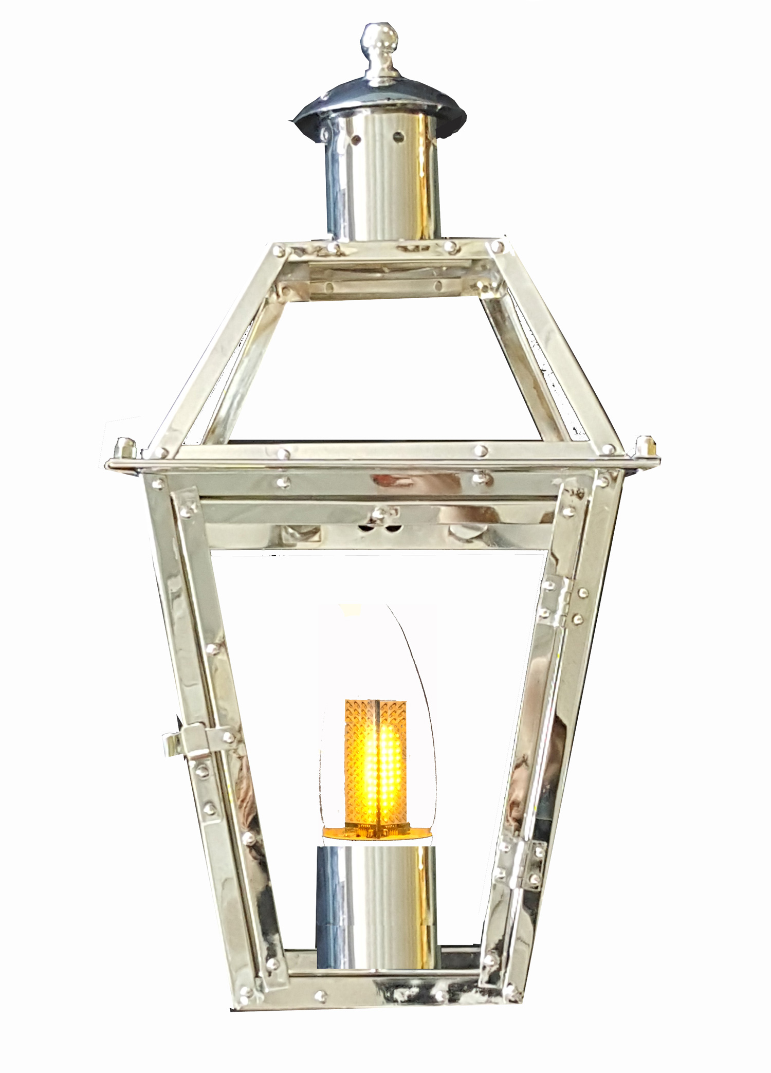 chrome plated 24 french quarter lantern new orleans gas lights. Black Bedroom Furniture Sets. Home Design Ideas