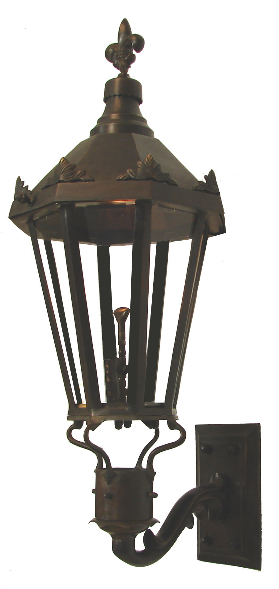 Windsor Antique Bronze Wall Mount New Orleans Gas Lights