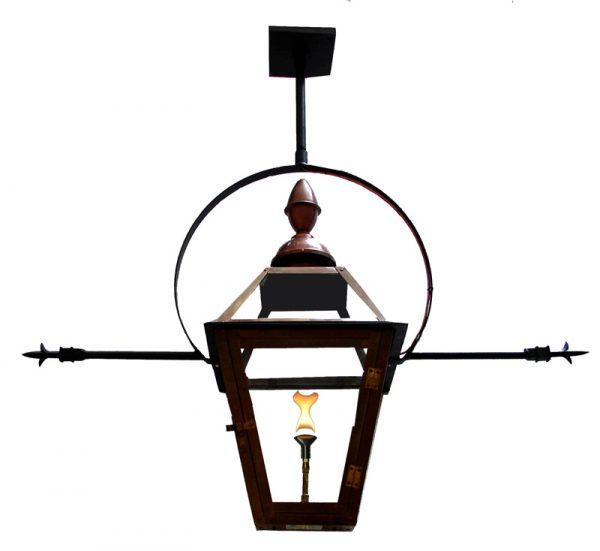 French Quarter Lantern - Church Top Finial - Hurricane Yoke (Pointed Tips Optional)