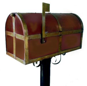 Post Mounted Mail Box