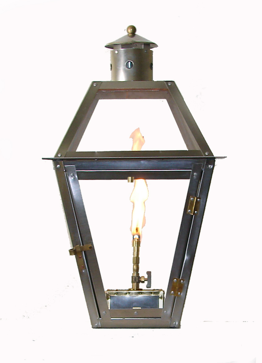 French Quarter Stainless Steel Lantern With Flo Glo Igniter