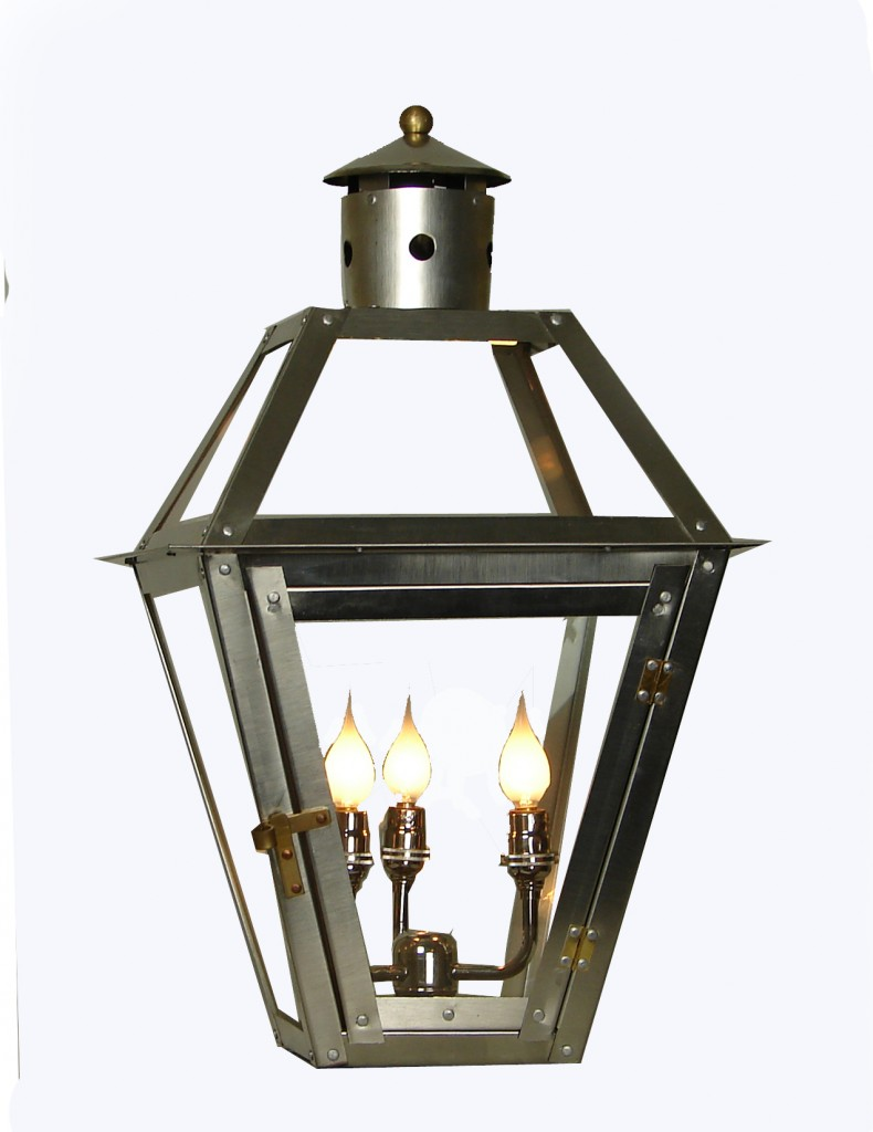French Quarter Stainless Steel Lantern Stainless Triple